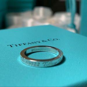 Tiffany Note Narrow Band Ring - Size 5